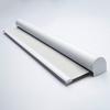 Afbeelding van Rolgordijn XL luxe cassette rond - Zilver wit Semi transparant