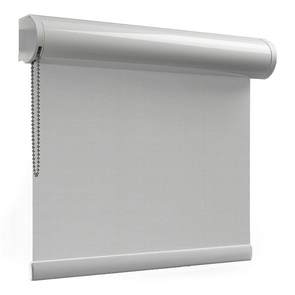 Afbeelding van Rolgordijn XL luxe cassette rond - Lichtgrijs gemeleerd Semi transparant
