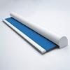 Afbeelding van Rolgordijn XL luxe cassette rond - Donkerblauw 70's look Semi transparant