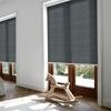 Afbeelding van Rolgordijn brede ramen Cassette rond - Luxe zwart wit Transparant