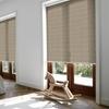 Afbeelding van Rolgordijn brede ramen Cassette rond - Luxe warmgroen Transparant