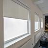 Afbeelding van Rolgordijn brede ramen Cassette rond - Taupe / Beige Transparant
