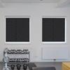 Afbeelding van Rolgordijn brede ramen Cassette rond - Vintage zwart Transparant