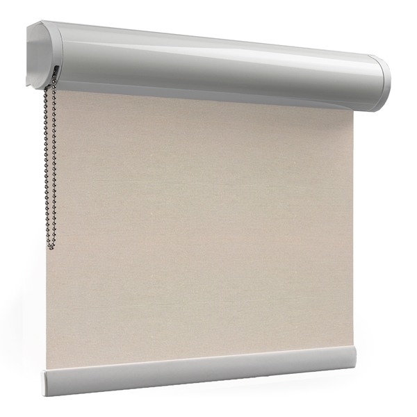 Afbeelding van Rolgordijn brede ramen Cassette rond - Creme-greige Transparant