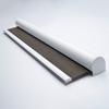 Afbeelding van Rolgordijn brede ramen Cassette rond - Antraciet licht Transparant