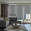 Afbeelding van Rolgordijn op maat Zijsteunen - 50 tinten grijs Verduisterend
