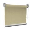 Afbeelding van Rolgordijn op maat Montagesteunen - Canvas beige Semi transparant