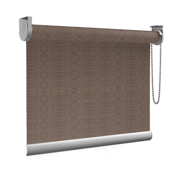 Afbeelding van Rolgordijn op maat Montagesteunen - Stijlvol ouderwets bruin Semi transparant