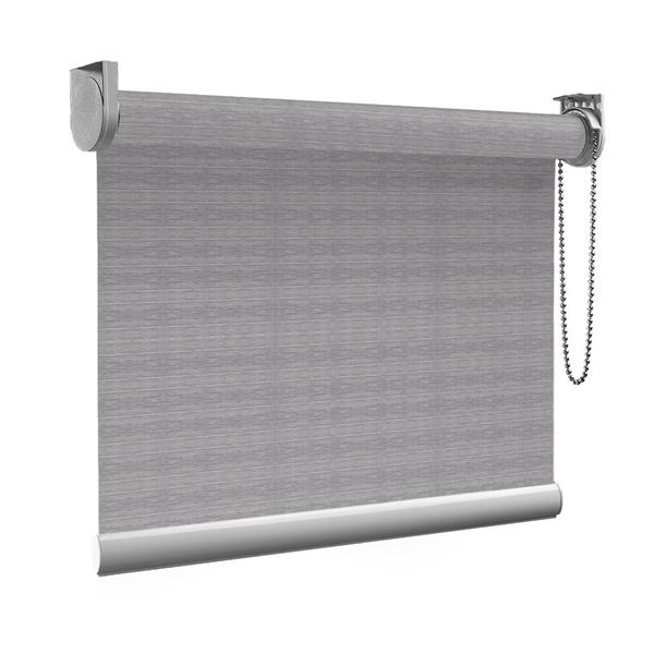Afbeelding van Rolgordijn op maat Montagesteunen - Warmgrijs gemeleerd Semi transparant