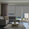Afbeelding van Rolgordijn op maat Montagesteunen - Warmgrijs Semi transparant