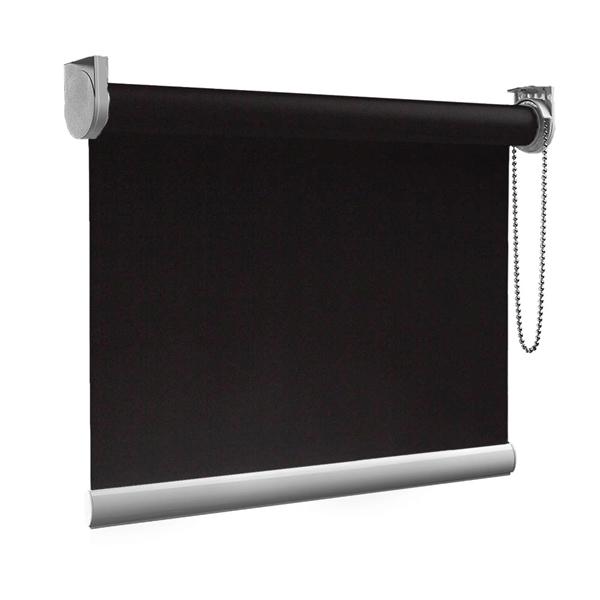 Afbeelding van Rolgordijn op maat goedkoop - Antraciet bleek design Semi transparant