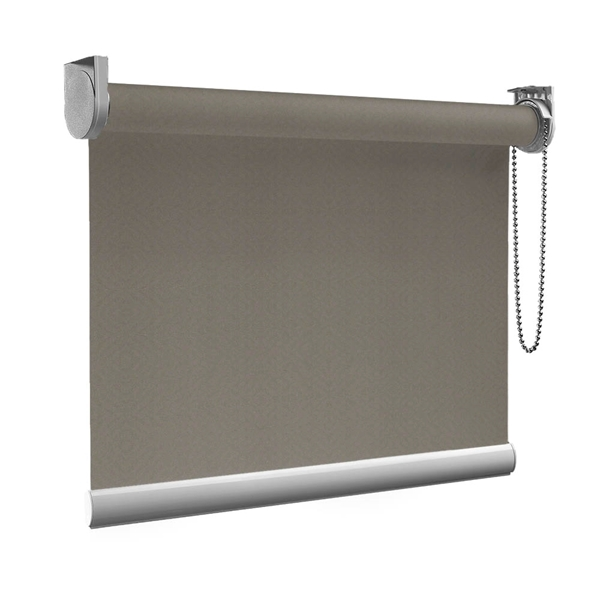 Afbeelding van Rolgordijn op maat goedkoop - Antraciet Grijsbruin Semi transparant