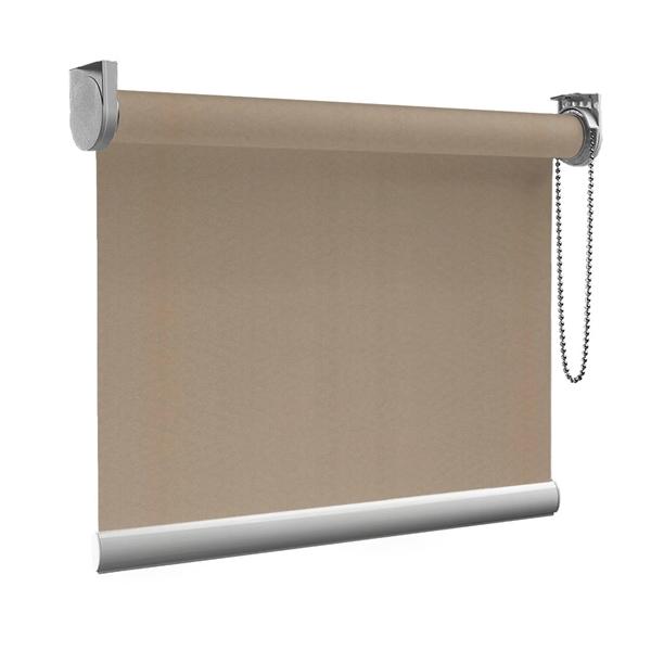 Afbeelding van Rolgordijn op maat goedkoop - Beige donkergroen Semi transparant