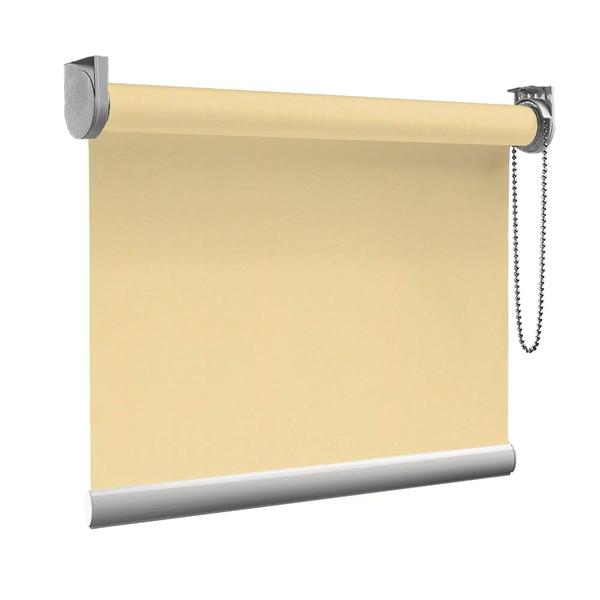 Afbeelding van Rolgordijn op maat goedkoop - Beige pastelgeel Semi transparant