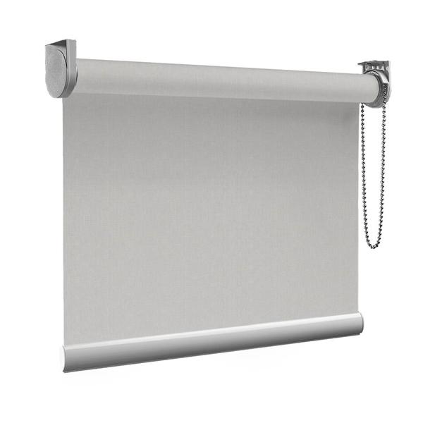 Afbeelding van Rolgordijn op maat Montagesteunen - Silver grey Semi transparant