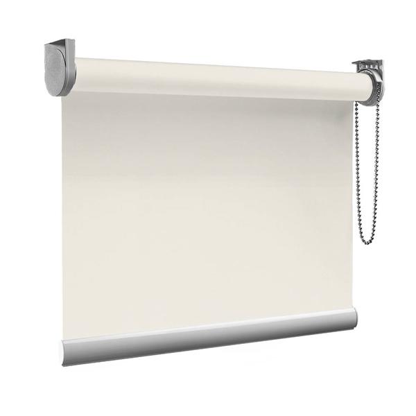 Afbeelding van Rolgordijn op maat Montagesteunen - Crème Semi transparant