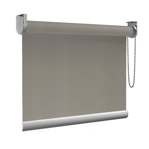 Afbeelding van Rolgordijn op maat Montagesteunen - Stoer grijs Semi transparant