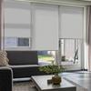 Afbeelding van Rolgordijn op maat Montagesteunen - Zilver wit Semi transparant