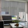 Afbeelding van Rolgordijn op maat goedkoop - Lichtgrijs wit verticaal gemeleerd Semi transparant