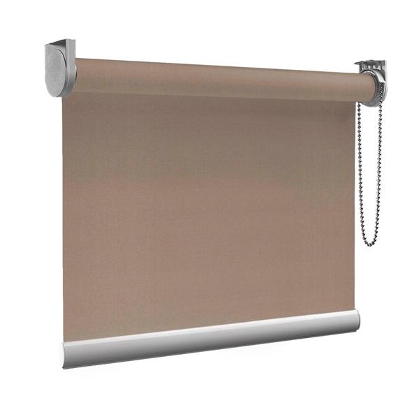 Afbeelding van Rolgordijn op maat goedkoop - Taupe donkergrijs Semi transparant