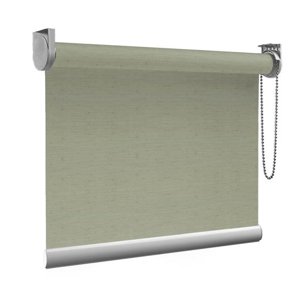 Afbeelding van Standaard Rolgordijn op maat - Glans bruingrijs met streep Transparant