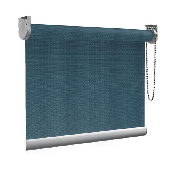 Afbeelding van Standaard Rolgordijn op maat - Luxe zeeblauw Transparant