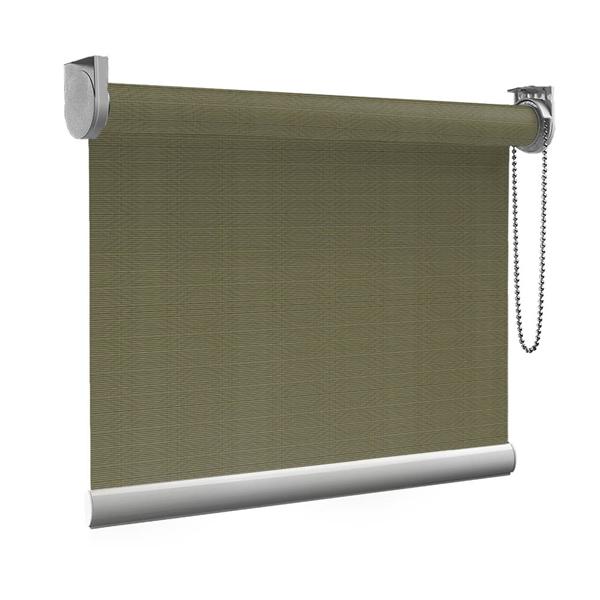 Afbeelding van Standaard Rolgordijn op maat - Luxe olijfgroen Transparant