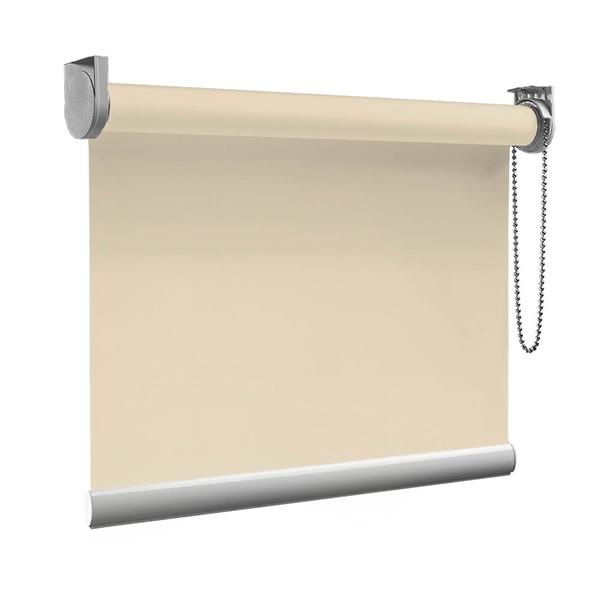 Afbeelding van XL Rolgordijn op maat Zijsteunen - Glimmend goud crème Verduisterend