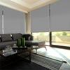 Afbeelding van XL Rolgordijn op maat Zijsteunen - Zilver groen Verduisterend