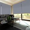 Afbeelding van XL Rolgordijn op maat Zijsteunen - Lichtblauw grijs Verduisterend