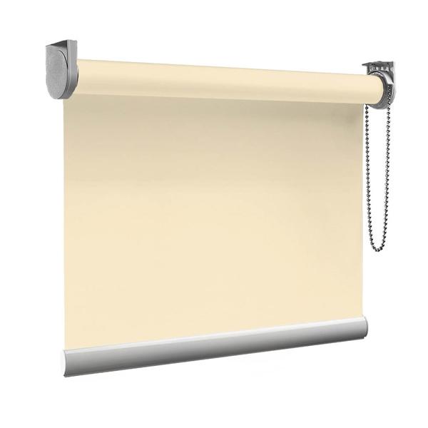 Afbeelding van XL Rolgordijn op maat Zijsteunen - Creme beige Verduisterend