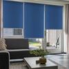 Afbeelding van XL Rolgordijn op maat Zijsteunen - Blauw denim Verduisterend