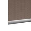 Afbeelding van Rolgordijn Breed Montagesteunen - Stijlvol ouderwets bruin Semi transparant