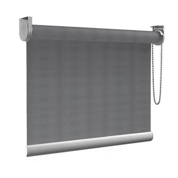 Afbeelding van Rolgordijn Breed Montagesteunen - Retro grijs Semi transparant