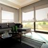 Afbeelding van Rolgordijn Breed Montagesteunen - Beige donkergroen Semi transparant