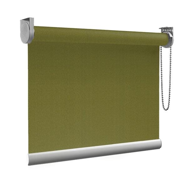 Afbeelding van Rolgordijn Breed Montagesteunen - Olijfgroen donker Semi transparant
