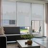 Afbeelding van Rolgordijn Breed Montagesteunen - Licht grijs / blauw Semi transparant