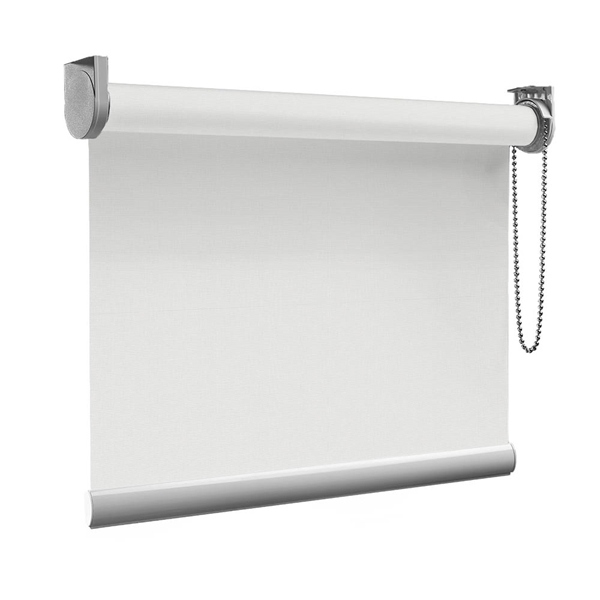 Afbeelding van Rolgordijn Breed Montagesteunen - Wit grijs Semi transparant
