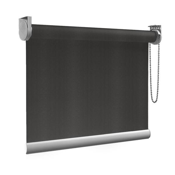 Afbeelding van Rolgordijn Breed Montagesteunen - Bruin zwart Semi transparant