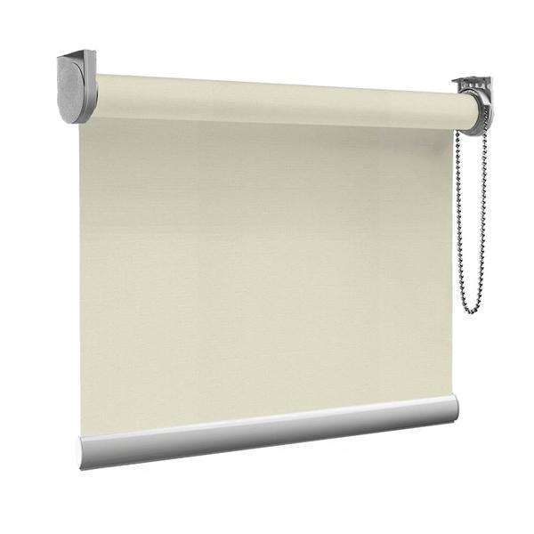 Afbeelding van Rolgordijn Breed Montagesteunen - Taupe Semi transparant