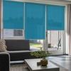 Afbeelding van Rolgordijn Breed Montagesteunen - Turqoise/Azuur blauw Semi transparant