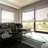 Afbeelding van Rolgordijn op maat Brede ramen - Touw met streep Transparant