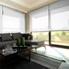 Afbeelding van Rolgordijn op maat Brede ramen - Glans wit gemeleerd Transparant