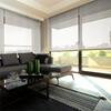 Afbeelding van Rolgordijn op maat Brede ramen - Taupe / Beige Transparant