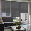 Afbeelding van Rolgordijn op maat Brede ramen - Zilvergrijs Transparant