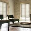 Afbeelding van Rolgordijn op maat Brede ramen - Crème Transparant