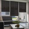 Afbeelding van Rolgordijn op maat Brede ramen - Zwart Transparant