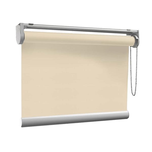 Afbeelding van Rolgordijn op maat met Montageprofiel - Glimmend goud crème Verduisterend