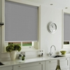 Afbeelding van Rolgordijn op maat met Montageprofiel - Zilver groen Verduisterend