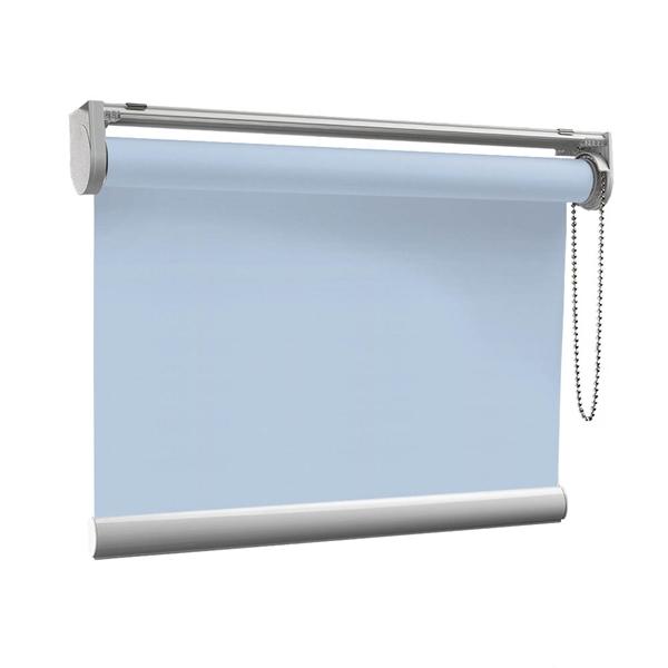 Afbeelding van Rolgordijn op maat met Montageprofiel - Lichtblauw pastel Verduisterend